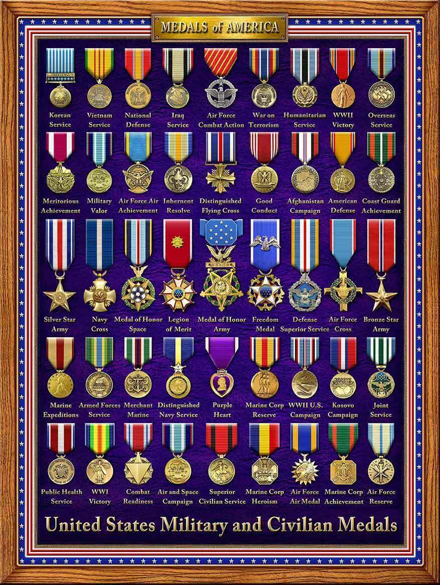 Medals of America Military Image by Michael Fishel Metal Sign