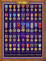 Medals of America Military Image by Michael Fishel Metal Sign - $29.95