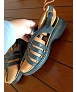 DANSKO Womens Black Leather Strappy Sandals 40 / 9.5-10 - $26.68