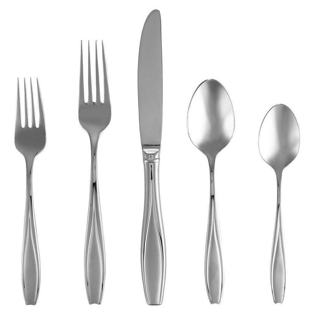 GORHAM Tulip Frosted 5 Piece Place Setting ~ 18/10 Stainless Steel Flatware NEW