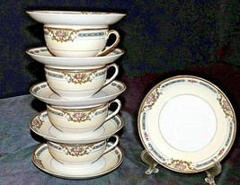 Theodore Haviland Limoges France  ( 4 Cups and 6 Saucers) AA20-2347A Vintage