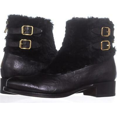 Primary image for Rupert Sanderson Highland Double Buckle Ankle Boots 633, Nero, 8.5 US / 38.5 EU