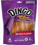 Dingo Triple Flavor Rawhide Pigs N' a Blanket (6-Pack) - $5.99
