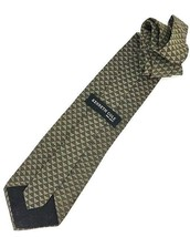 New Kenneth Cole New York Silk Tie Olive & Gold Men's Neck Tie Designer - $13.95