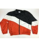 Vtg 90s Multi COLOR BLOCK Lined Nylon WINDBREAKER Jacket L Retro Sports ... - $30.69