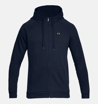 Under Armour Men's  Rival Fleece Full-Zip Hoodie NEW AUTHENTIC Navy 1320... - $39.49