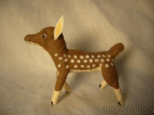 Vintage Inspired Spun Cotton Reindeer Fawn for Christmas Decorations