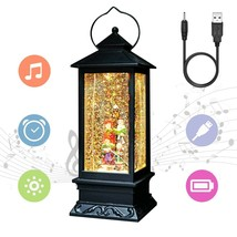 Eldnacele Christmas Musical Snow Globe Lantern Plug in & Battery Operate... - £32.17 GBP