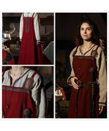 "Medieval Fantasy Red Dress ""Dragon""Women's Dress Renaissance Dress vikin... - $149.00"