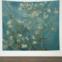 "Tapestry Almond Blossom Van Gogh Painting Country Farm 51"" x 59"" Wall Ha... - $29.00"