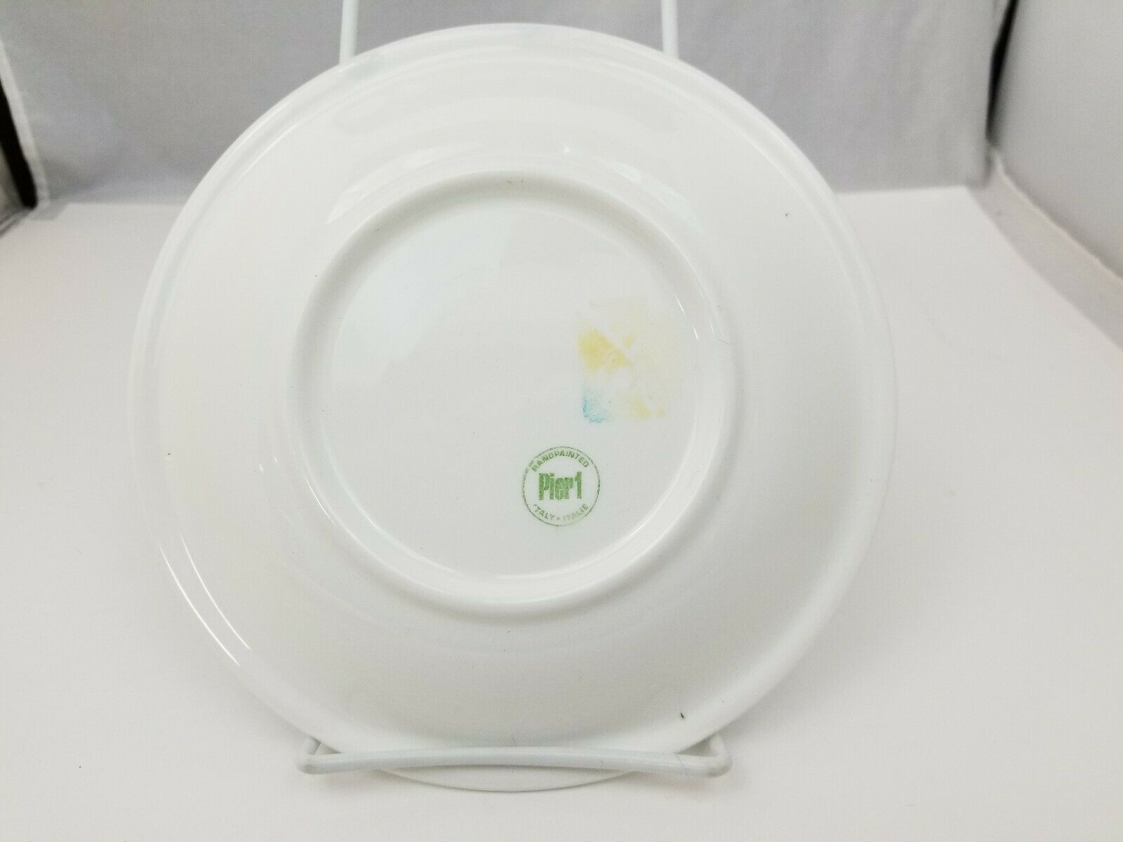 """Pier 1 Salad Plates Set of 3 La Primula Srl Made in Italy 7.75"""" Blue Red Green image 6"""