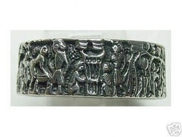 COOL Mural Life of Egyptian Ring Real Sterling Silver .925 egypt Pharaoh... - $23.20