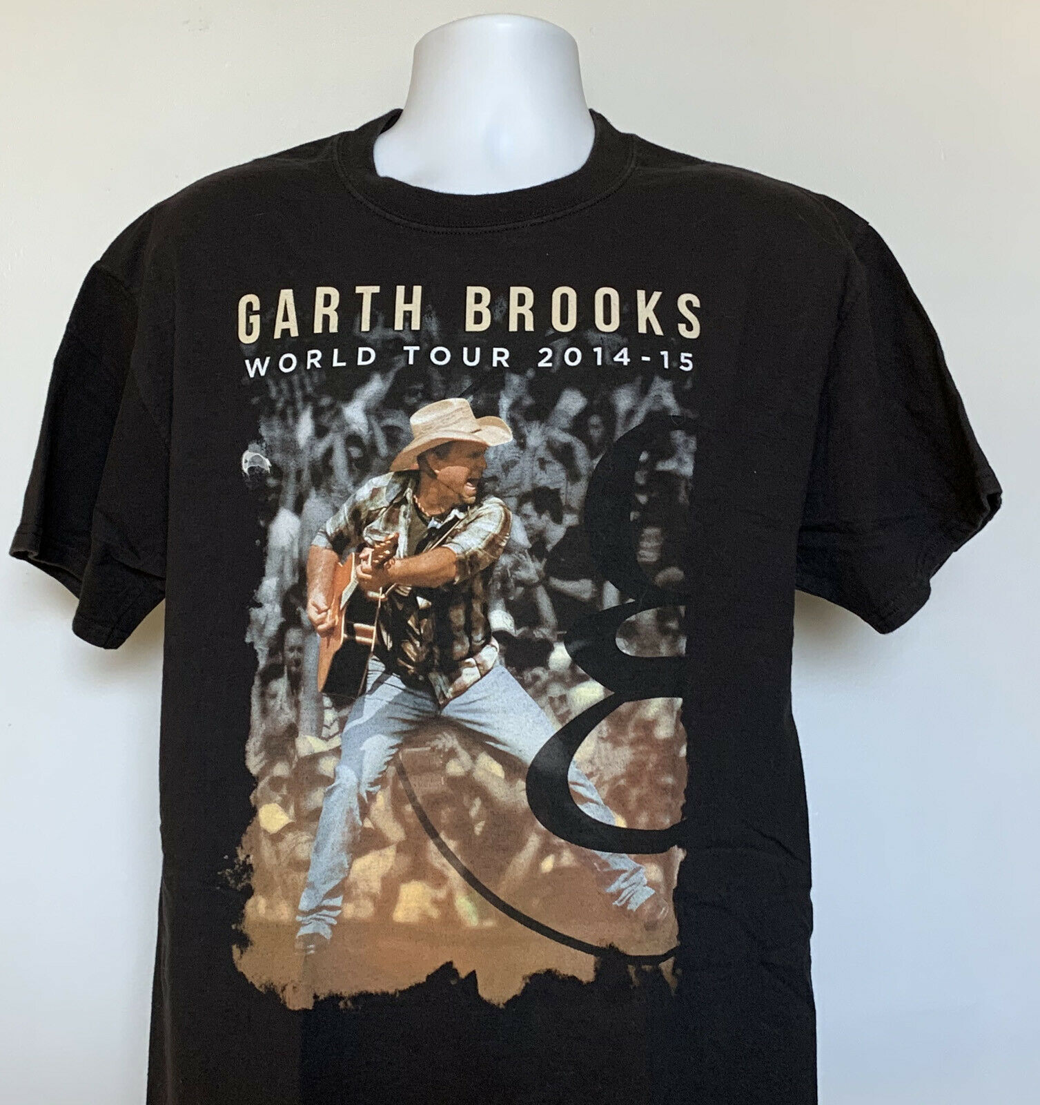 Primary image for Garth Brooks 2014 - 2015 World G Tour T Shirt Mens Large Black