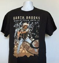 Garth Brooks 2014 - 2015 World G Tour T Shirt Mens Large Black  - $21.73