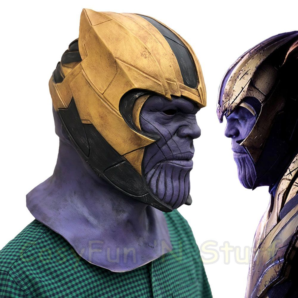 New Endgame Thanos Mask Infinity War Avengers EndGame Costume Mask Handmade image 1
