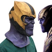New Endgame Thanos Mask Infinity War Avengers EndGame Costume Mask Handmade - $50.23