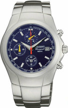 Orient LTT09001D Men's Stainless Steel Blue Dial Chronograph Sports Watch - $171.50