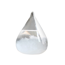 Transparent Crystal Water Drop Weather Forecast Bottle Storm Glass Liqui... - $39.19