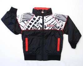 Enyce Signature Black & Red Mesh Lined Zip Front Hooded Wind Jacket Boys... - $44.99