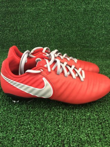 be5b7d7b783b78 Nike tiempo Soccer Cleats Red Silver Size 6 and 50 similar items. 12