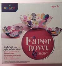 Craft-Tastic Paper Bowl Craft Kit Make 3 Different Size Decorative Bowls... - $8.60