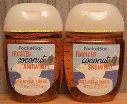 Pocketbac Frosted Coconut Snowball Antibacterial Hand Gel 2 Pack Bath Bo... - $5.50
