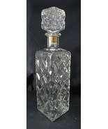 Vintage for Whiskey or Tequila Decanter Crystal Clear Glass Empty Bottle... - $70.00