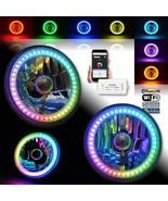 "5-3/4"" Bluetooth RGB SMD Color Chase Chasing LED Halo Angel Eye Headligh... - $159.95"