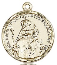 OUR LADY OF CONSOLATION MEDAL - 14KT Gold  - NO CHAIN - $1,038.99
