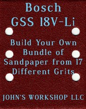 Build Your Own Bundle Bosch GSS 18V-Li 1/4 Sheet No-Slip Sandpaper 17 Grits - $0.99