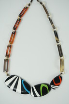 Mayan Buffalo Horn and Lacquer Necklace - $31.95