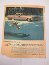 1961 Cadillac Sedan de Ville Pink car in the Rockies photo vintage print ad - $10.00