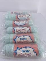 Vintage Bucilla Winfant Green Yarn Lot Of 6 - $14.01