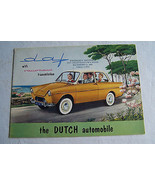 daf daffodil owners sales brochure used original  1960 1 page fold out - $24.99