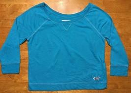 Hollister Women's Blue 3/4 Sleeve Crop Top Shirt / Blouse - Size: XS - $14.01