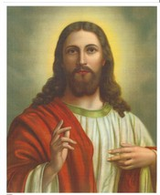 """Catholic Print Picture SACRED HEART of JESUS Blessing 8x10"""" ready to be ... - $14.01"""