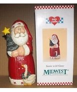 Midwest of Cannon Falls Eddie Walker Santa with Goose 1998 - $19.79
