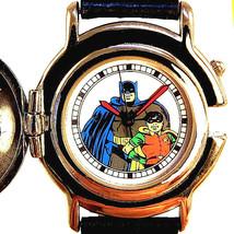 Batman And Robin LTD Rare Fossil Made For DC Comics Button Flip Cover Watch $115 - $113.70