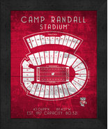 "Wisconsin Badgers Camp Randall ""Retro"" Stadium Seating Chart 13x16 Frame... - $39.95"