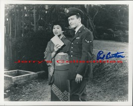 Red Buttons signed Sayonara photo. Shown w/M Umeki. Scarce.  - $22.95