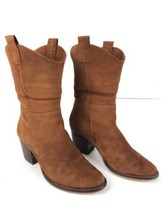 Steve Madden Rust Brown Suede Leather High Heel Ankle Boots Size 7 - €63,15 EUR