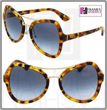 Prada Soft Pop Evolution Sunglasses 18S Spotted Brown Havana Blue PR18SS - $207.90