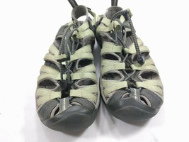 Keen Whisper Gray/ Lime Green Waterproof Sport Sandals Womens Sz 6.5 - $26.14