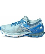 Asics Womens Gel Kinsei 6 Blue Silver Neutral Running Trainers Shoes T69... - £137.67 GBP