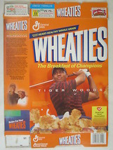 MT WHEATIES Cereal Box 2002 18oz TIGER WOODS [G7E9c] - $5.76