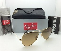 Polarisé Soleil Ray-Ban RB 3025 001/M2 58-14 or Aviateur W/Marron Dégradé - $250.09