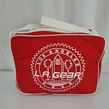 Vintage 80s 90s LA L.A. Gear Lunch Bag Cooler Tote Crossbody NEW Red White - $29.69