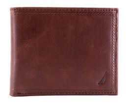 Nautica Men's Genuine Vintage Leather Credit Card ID Billfold Passcase Wallet image 10