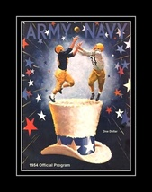 Vintage 1954 Army Navy Football Program Poster Military Gift, Officer Wa... - $19.99+