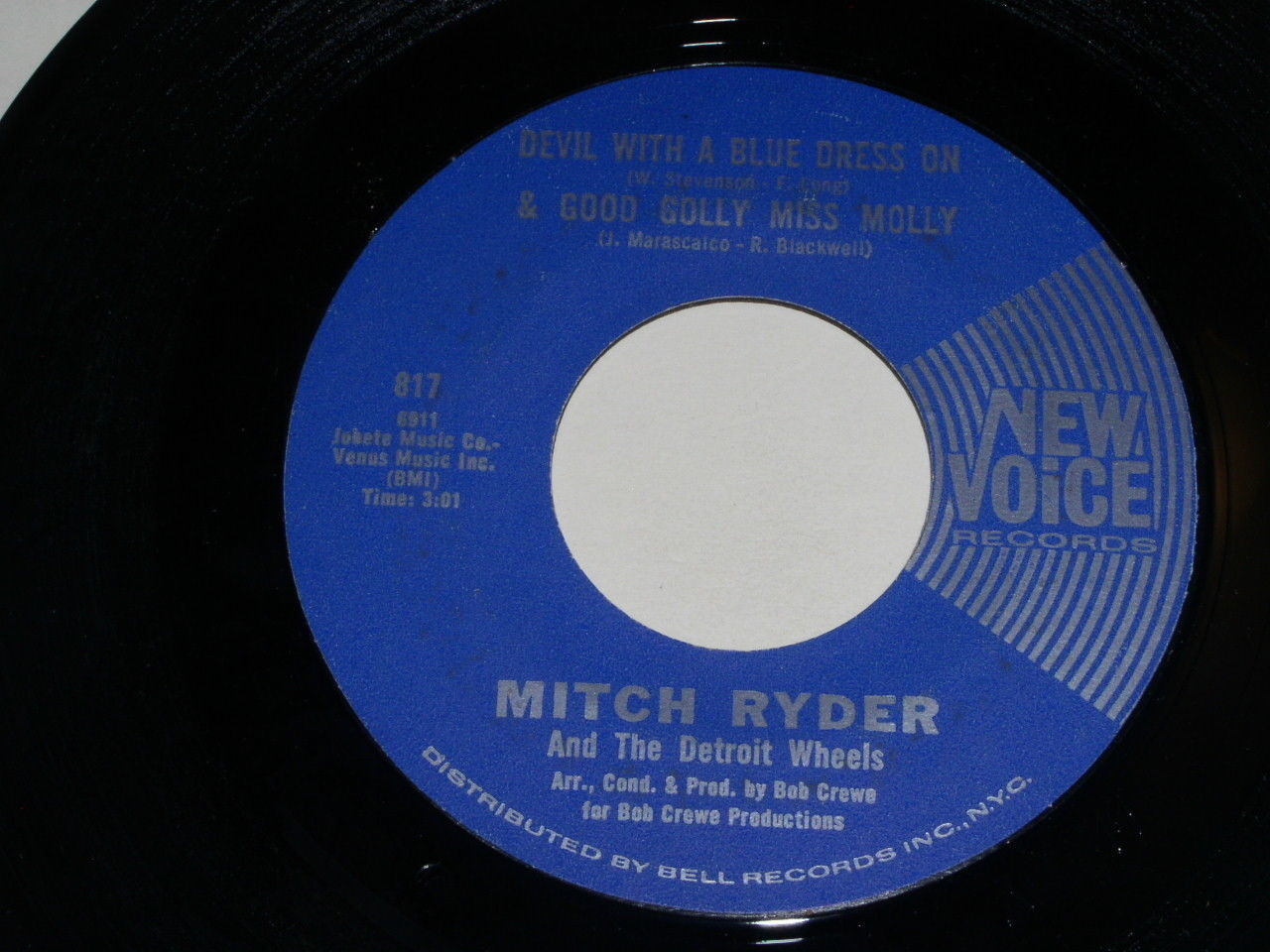 Mitch Ryder Devil With A Blue Dress On 45 Rpm Record Vintage New Voice Label
